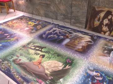 Paquita ha completado uno de los puzzles más grandes del mundo con 40.000 piezas