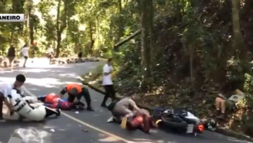 Brutal accidente