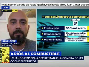 """Saúl López, experto en coches eléctricos: """"Son beneficiosos para la salud, para el bolsillo y muy divertidos""""."""