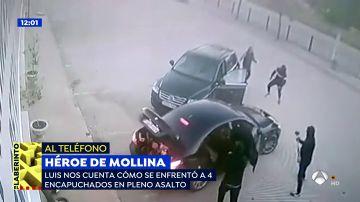 VÍDEO: Así se enfrentó un vecino de Mollina a 4 atracadores que asaltaban una ferretería