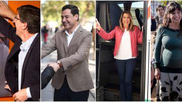 Primer día de campaña de las elecciones andaluzas