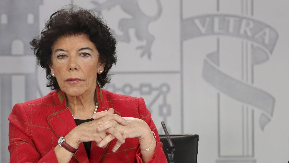 La ministra de Educación y Portavoz del Gobierno, Isabel Celaá
