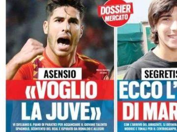 Portada de 'Tuttosport' asegurando que se quiere marchar de la Juventus