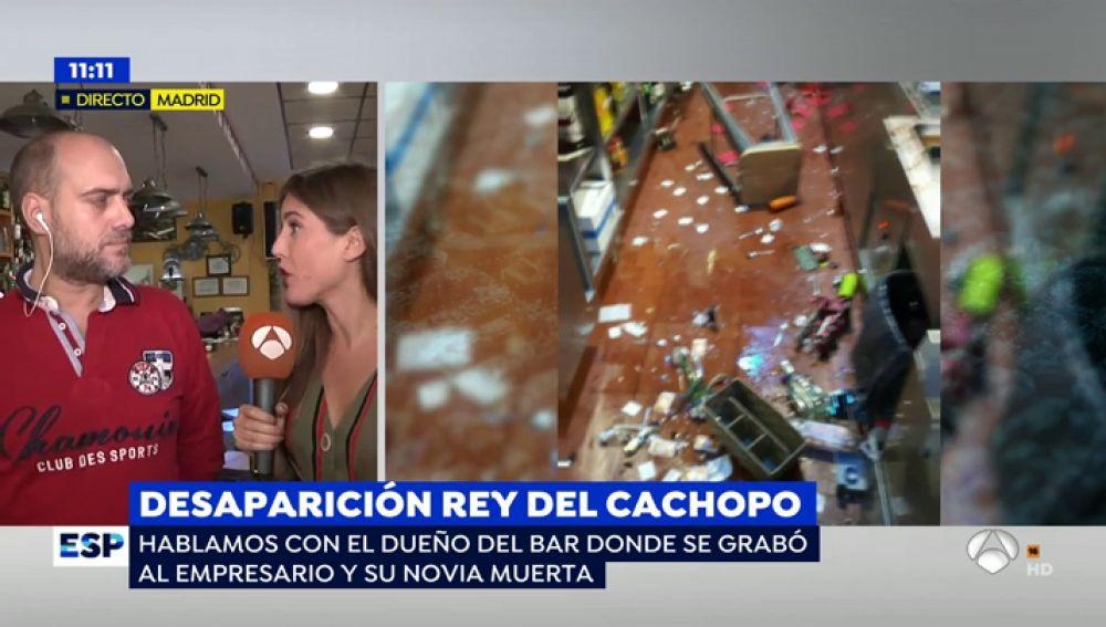 """Últimas imágenes del 'rey del cachopo' y su novia en el bar donde trabajaba: """"Ella tenía una actitud muy violenta: rompió una botella y amenazó a los clientes"""""""