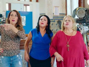 El rodaje de la quinta temporada de 'Allí Abajo' asalta a las vecinas en el bar