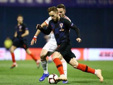 Ivan Rakitic, en el partido ante España