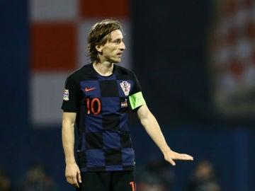 Luka Modric, con Croacia
