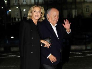 Amancio Ortega a su llegada al Real Club Náutico de A Coruña