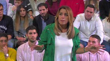 """Susana Díaz: """"Quien vota a Ciudadanos es para que gobierne el PP"""""""
