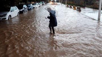Imagen del temporal en Valencia