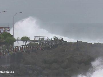 Los estragos del temporal en Canarias