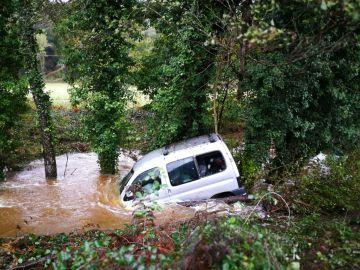 Imagen del vehículo atrapado