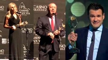 Sandra Golpe, Iñaki López y Julián Cabrera recogen sus Antenas de Oro