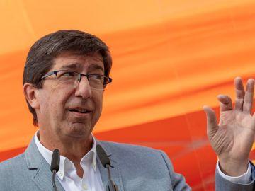 El candidato de Ciudadanos, Juan Marín