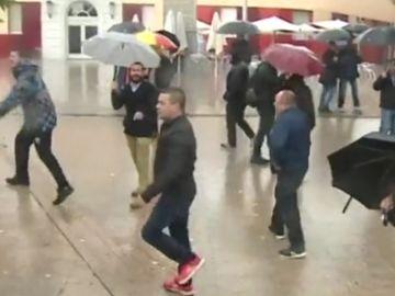 Manifestación contra la inmigración en Santa Coloma