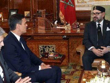 Pedro Sánchez y Mohamed VI, durante su reunión