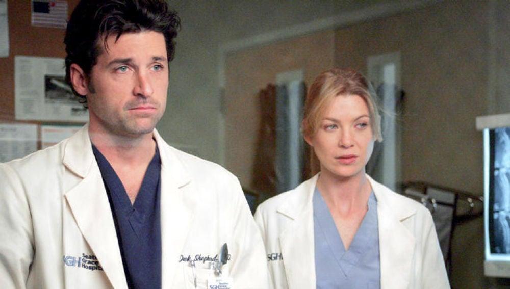 Meredith y Derek en 'Anatomía de Grey'