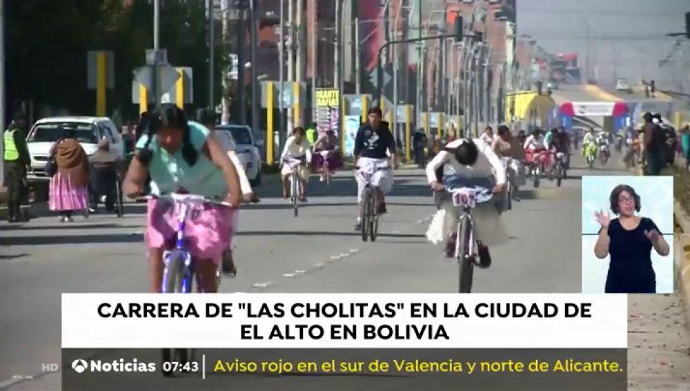 375 mujeres participan la V Carrera de 'Las Cholitas' en Bolivia