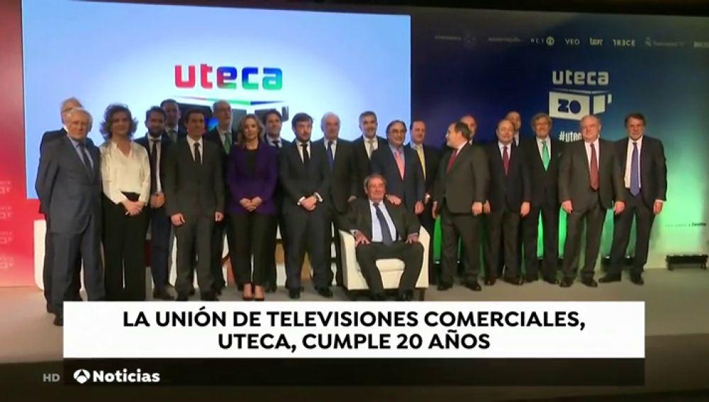 La Unión de Televisiones Comerciales en Abierto celebra su 20 cumpleaños en un acto al que han asistido Pedro Sánchez y José Crehueras