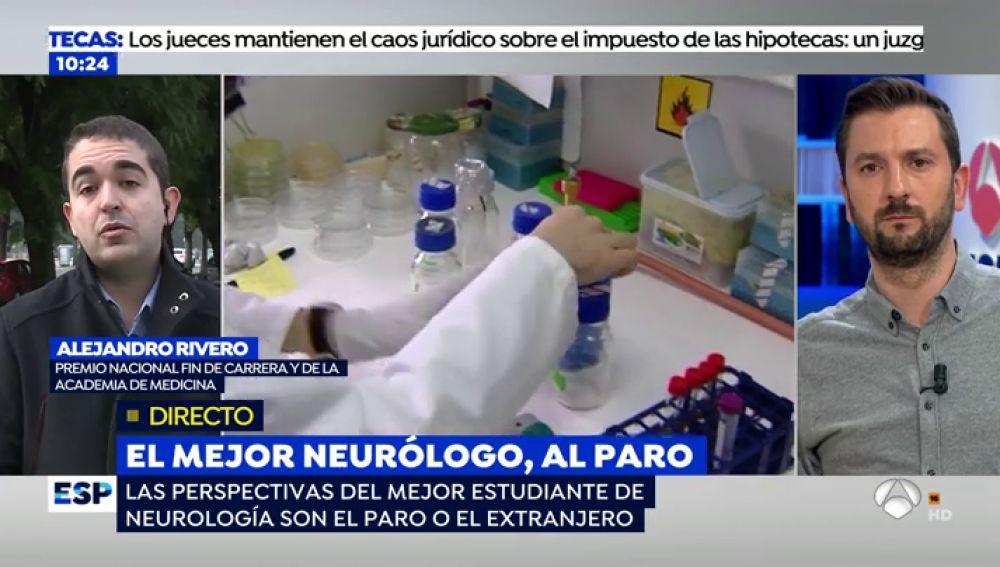"""El mejor neurólogo de España, al paro: """"Mi perspectiva es recorrer España entregando currículos"""""""