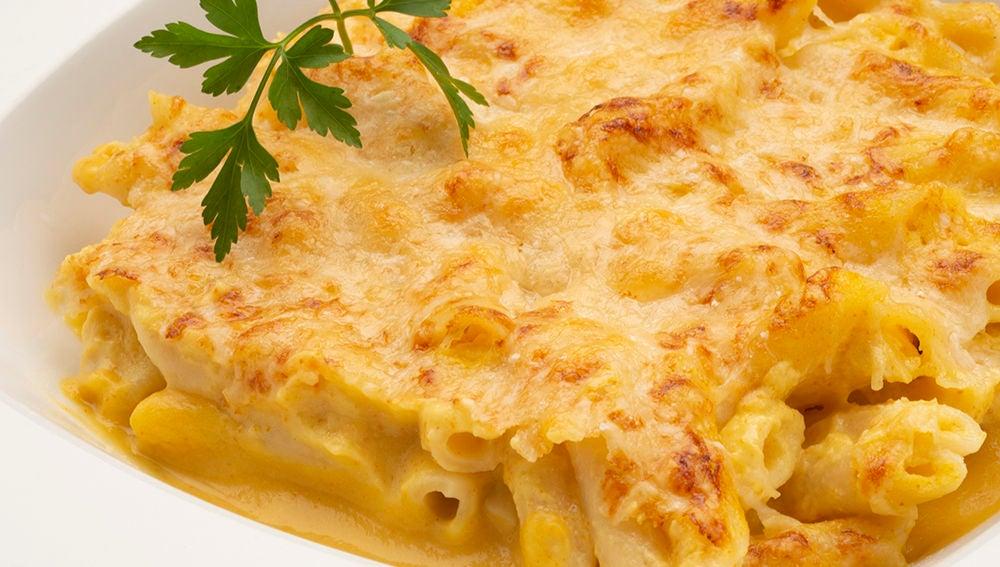 Macarrones con crema de calabaza y queso