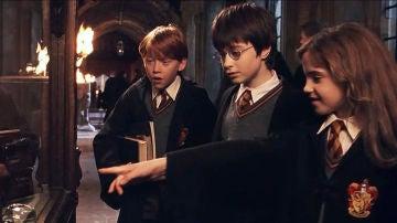 Hermione, Harry Potter y Ron