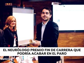 """Alejandro, el mejor neurólogo más joven de España, podría quedarse sin trabajo: """"Tenemos un perspectiva laboral muy complicada"""""""