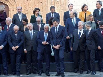 El presidente del Gobierno, Pedro Sánchez, ha recibido al primer ministro portugués, Antonio Costa