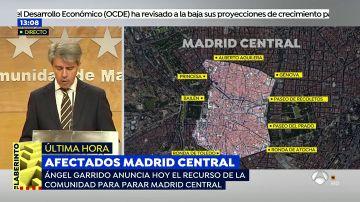 """Ángel Garrido anuncia el recurso para parar Madrid Central: """"El Ayuntamiento no ha analizado el coste de la norma para el ciudadano"""""""