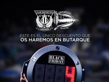 La imagen del Leganés para promocionar el partido contra el Alavés