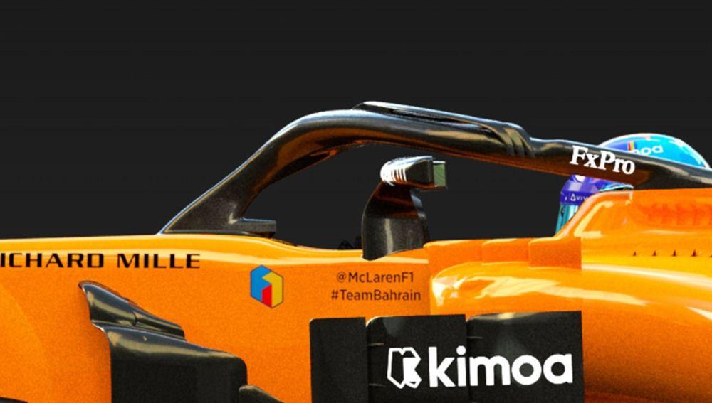 Detalle del monoplaza con el que correrá Fernando Alonso en Abu Dabi