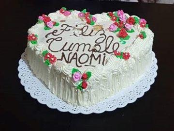 Tarta de cumpleaños de Naomi, la joven asesinada