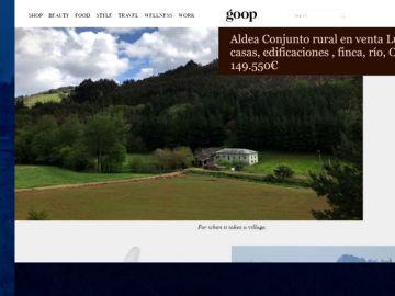 Gwyneth Paltrow recomienda una aldea de Lugo como regalo de Navidad