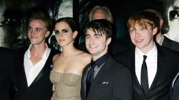 Tom Felton, Emma Watson, Daniel Radcliffe y Rupert Grint