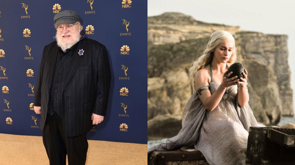 Geroge R.R. Martin y Daenerys Targaryen