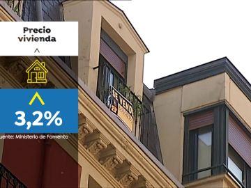 Crece el precio de la vivienda un 3,2 %