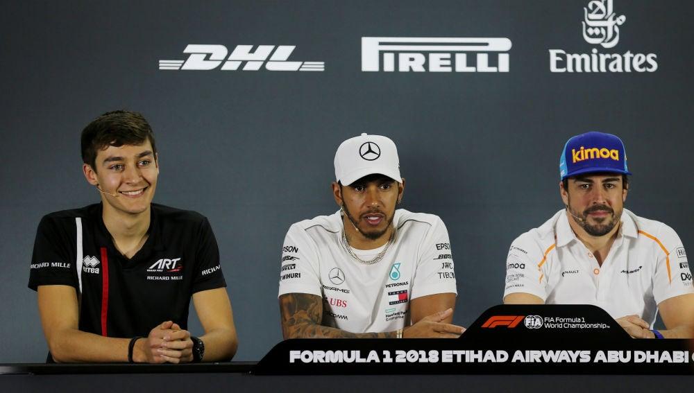 Fernando Alonso en su última rueda de prensa