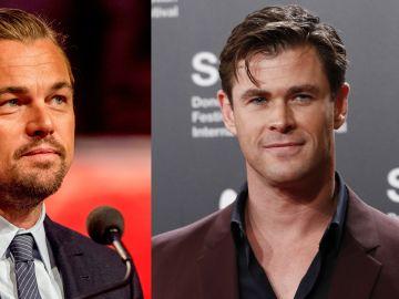 Leonardo DiCaprio y Chris Hemsworth.