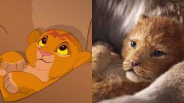 Comparación de 'El Rey León' original y el remake
