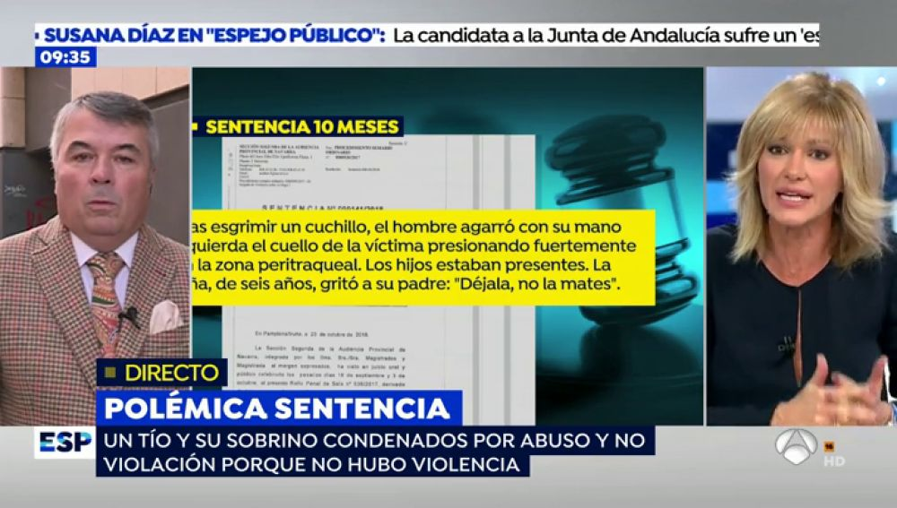 El enfado de Susanna Griso con el juez de La Manada.