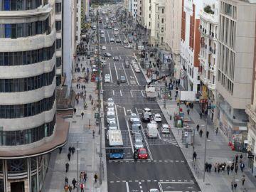 Nuevo aspecto de la Gran Vía de Madrid