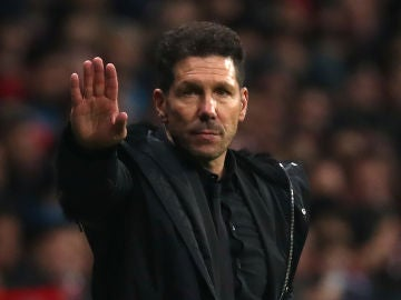 Simeone, durante el partido contra el Barcelona
