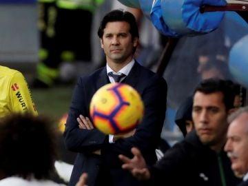 Solari, durante el partido contra el Eibar