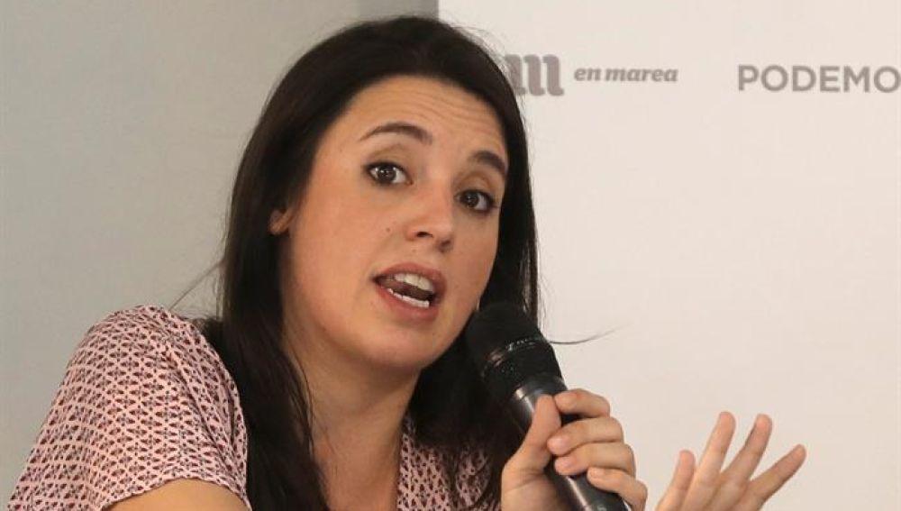 La portavoz de Unidos Podemos, Irene Montero