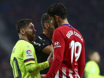 Diego Costa, con Messi