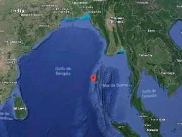 Localización de la isla Sentinel