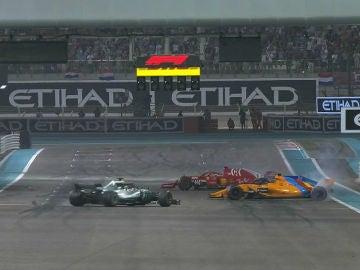 Hamilton, Vettel y Alonso, en Yas Marina