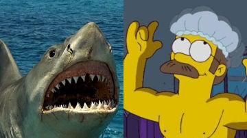 Ned Flanders aparece en 'Tiburón'