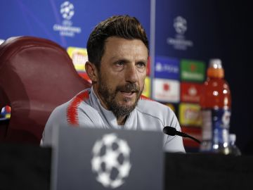 El entrenador de la Roma Di Francesco