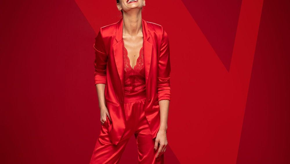 Eva González, de rojo en 'La Voz'